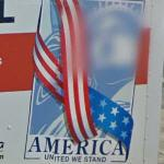 "U-Haul ""America"" with face-blur"