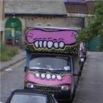 Truck with graffiti by Sweet Toof