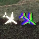 Ghost Plane (Google Maps)