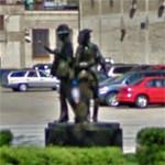 Mail carriers statue (StreetView)