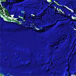 Location of the Battle of The Coral Sea, May 5-12, 1942 (Google Maps)