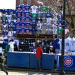 Chicago Cubs vendor in Wrigleyville