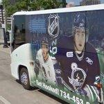 Plymouth Whalers team bus