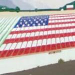 U.S. flag mural
