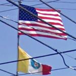 US and Columbus Flags