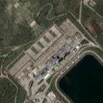 Power plant and reservoir (Google Maps)
