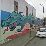Long dragon mural