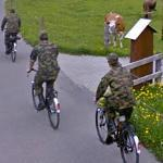 Swiss Soldiers on Bicycles