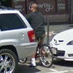 Bicycle on Hollywood Blvd (StreetView)