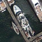 "Google founder Larry Page's superyacht ""Senses"" (Google Maps)"