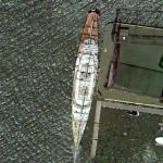 "Barry Diller's superyacht ""Eos"" (Google Maps)"