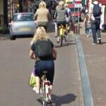 Blondes bicycling (StreetView)