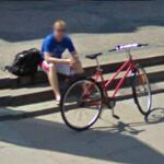 Cyclist resting (StreetView)