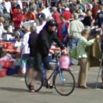 Cycling at a flea market (StreetView)