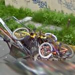 Bicycles for repair or recycling (StreetView)