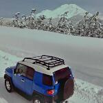 Toyota FJ Cruiser approaching Mt Shasta
