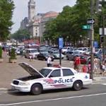 Broken Police Car