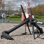 Anchors and buoys in a roundabout (StreetView)