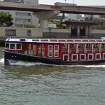 Named party boat in the Sumida River (StreetView)