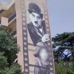 "Charlie Chaplin in ""The Kid"" Mural (StreetView)"
