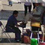 Shoeshine stall