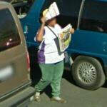 Newspaper vendor (StreetView)