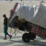 Beach Chair Stand on the Move (StreetView)