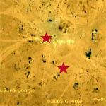 Bomb Crater Amid SA-2 Site (Google Maps)