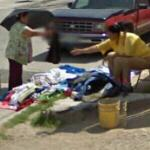 Curbside clothing sales (StreetView)