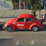 Red Coca Cola VW