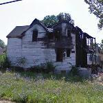 Burnt house (StreetView)