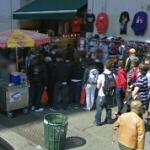 Clothing & food vendors