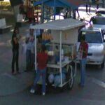 Busy Snack Cart on corner (StreetView)