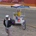 Trike cart on corner