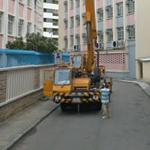 Crane setting up (StreetView)