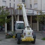 Construction equipment in use