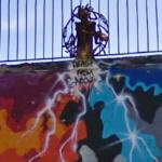 Death From Above sculpture/graffiti (StreetView)