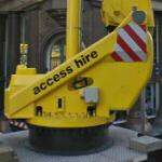 Base of a truck-mounted cherry picker