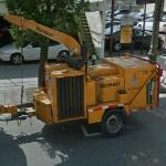 Vermeer trailer-mounted woodchipper