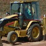 Caterpillar backhoe loader (StreetView)