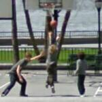 Boys playing basketball (StreetView)