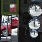 Google car in mirrors