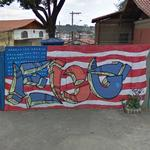American flag graffiti (StreetView)