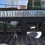 Google car reflection & Harley-Davidson