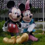 Mickey Mouse and Minnie (StreetView)