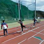 110 metres hurdles training
