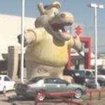 Giant inflatable hippo