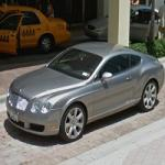 Bentley Continental GT in front of Ritz Carlton (StreetView)