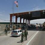 US Border Patrol checkpoint at Sierra Blanca, Texas