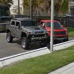 Hummer H2 and Ford Raptor (StreetView)
